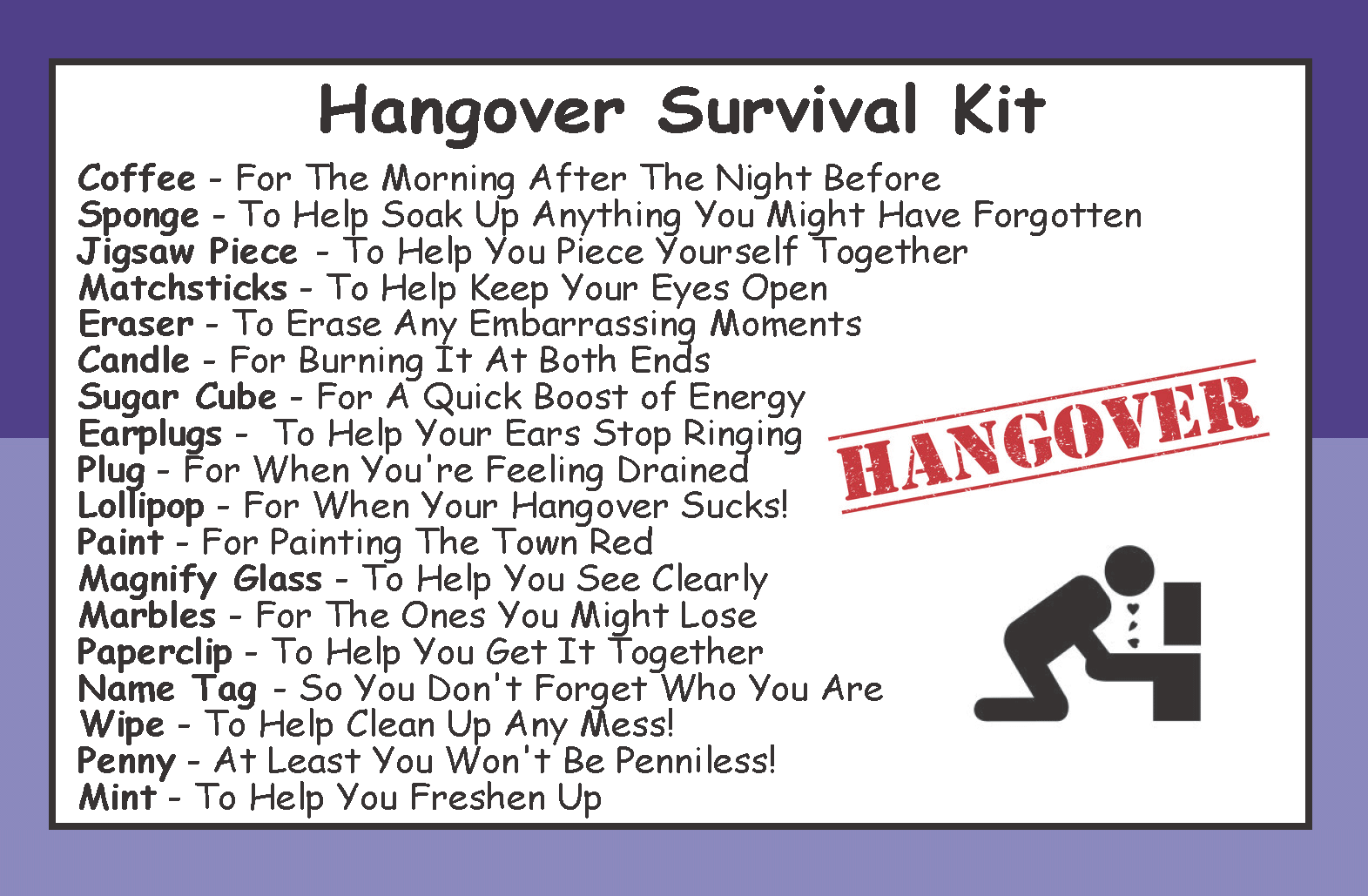 Hangover Survival Kit In A Can